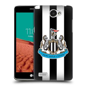 Plastové pouzdro na mobil LG Bello II HEAD CASE Newcastle United FC - Pruhy