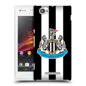 Plastové pouzdro na mobil Sony Xperia M C1905 HEAD CASE Newcastle United FC - Pruhy