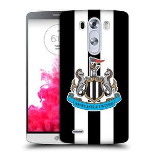 Plastové pouzdro na mobil LG G3 HEAD CASE Newcastle United FC - Pruhy