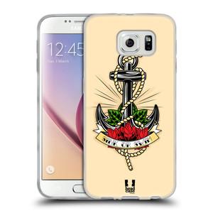 Silikonové pouzdro na mobil Samsung Galaxy S6 HEAD CASE Tetování kotva