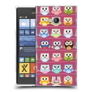 Silikonové pouzdro na mobil Nokia Lumia 735 HEAD CASE SOVIČKY RŮŽOVÉ