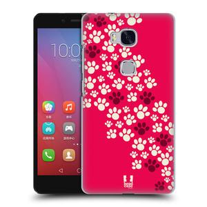 Plastové pouzdro na mobil Honor 5X HEAD CASE TLAPKY RŮŽOVÉ