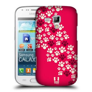 Plastové pouzdro na mobil Samsung Galaxy S Duos HEAD CASE TLAPKY RŮŽOVÉ