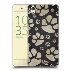 Plastové pouzdro na mobil Sony Xperia X HEAD CASE TLAPKY ŠEDÉ