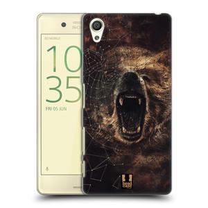 Plastové pouzdro na mobil Sony Xperia X HEAD CASE POLYSKETCH GRIZZLY