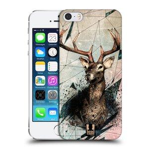 Plastové pouzdro na mobil Apple iPhone SE, 5 a 5S HEAD CASE POLYSKETCH JELEN