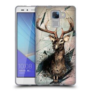 Silikonové pouzdro na mobil Honor 7 HEAD CASE POLYSKETCH JELEN
