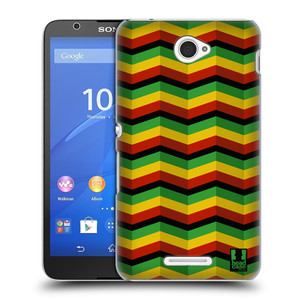 Plastové pouzdro na mobil Sony Xperia E4 E2105 HEAD CASE RASTA CHEVRON