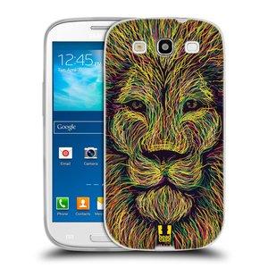 Silikonové pouzdro na mobil Samsung Galaxy S3 Neo HEAD CASE SCRIBBLE LEV