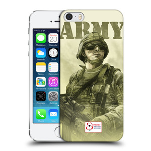 Plastové pouzdro na mobil Apple iPhone SE, 5 a 5S HEAD CASE BRITISH ARMY