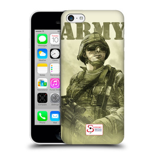 Plastové pouzdro na mobil Apple iPhone 5C HEAD CASE BRITISH ARMY