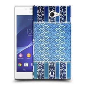 Plastové pouzdro na mobil Sony Xperia M2 D2303 HEAD CASE MODRÉ KYTIČKY