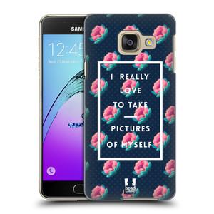 Plastové pouzdro na mobil Samsung Galaxy A3 (2016) HEAD CASE SELFIE I LOVE