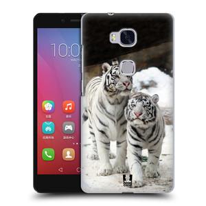 Plastové pouzdro na mobil Honor 5X HEAD CASE BÍLÍ TYGŘI
