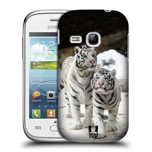 Plastové pouzdro na mobil Samsung Galaxy Young HEAD CASE BÍLÍ TYGŘI