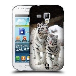 Plastové pouzdro na mobil Samsung Galaxy S Duos HEAD CASE BÍLÍ TYGŘI