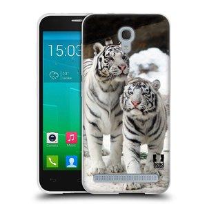 Silikonové pouzdro na mobil Alcatel One Touch Idol 2 Mini S 6036Y HEAD CASE BÍLÍ TYGŘI