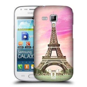 Plastové pouzdro na mobil Samsung Galaxy S Duos HEAD CASE RŮŽOVÁ AIFELOVKA