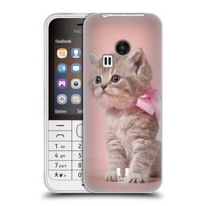 Silikonové pouzdro na mobil Nokia 220 HEAD CASE KOTĚ S MAŠLÍ