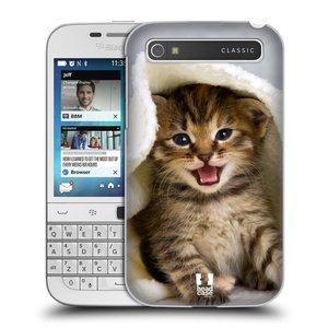Plastové pouzdro na mobil Blackberry Classic HEAD CASE KOTĚ V OSUŠCE