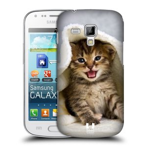 Plastové pouzdro na mobil Samsung Galaxy S Duos HEAD CASE KOTĚ V OSUŠCE