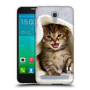 Silikonové pouzdro na mobil Alcatel One Touch Idol 2 Mini S 6036Y HEAD CASE KOTĚ V OSUŠCE