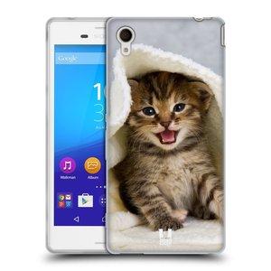 Silikonové pouzdro na mobil Sony Xperia M4 Aqua E2303 HEAD CASE KOTĚ V OSUŠCE