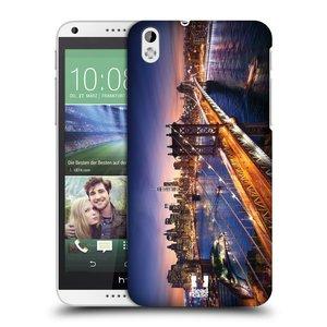 Plastové pouzdro na mobil HTC Desire 816 HEAD CASE SUNSET SKYLINE BROADWAY