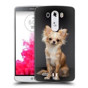 Silikonové pouzdro na mobil LG G3 HEAD CASE ČIVAVA