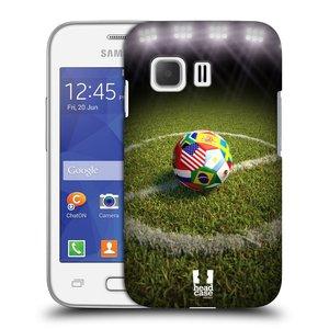 Plastové pouzdro na mobil Samsung Galaxy Young 2 HEAD CASE FOTBALOVÝ MÍČ ZEMÍ