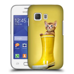 Plastové pouzdro na mobil Samsung Galaxy Young 2 HEAD CASE KOTĚ V BOTĚ