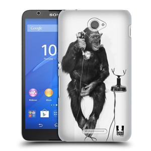 Plastové pouzdro na mobil Sony Xperia E4 E2105 HEAD CASE OPIČÁK S TELEFONEM