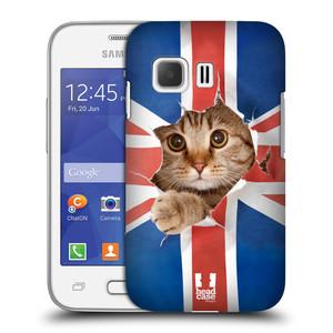 Plastové pouzdro na mobil Samsung Galaxy Young 2 HEAD CASE KOČKA A VLAJKA