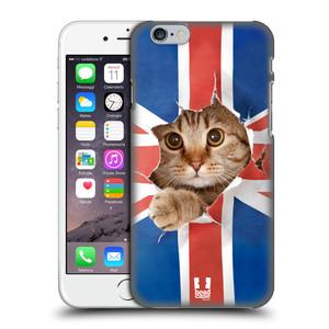 Plastové pouzdro na mobil Apple iPhone 6 a 6S HEAD CASE KOČKA A VLAJKA