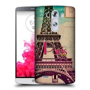 Plastové pouzdro na mobil LG G3 HEAD CASE PARIS VINTAGE
