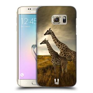 Plastové pouzdro na mobil Samsung Galaxy S7 Edge HEAD CASE DIVOČINA – ŽIRAFY