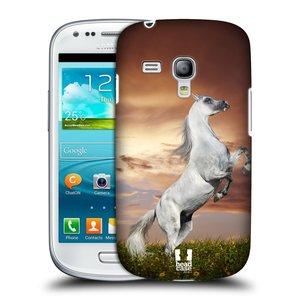 Plastové pouzdro na mobil Samsung Galaxy S3 Mini VE HEAD CASE DIVOČINA – KŮŇ