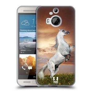 Silikonové pouzdro na mobil HTC One M9+ (Plus) HEAD CASE DIVOČINA – KŮŇ