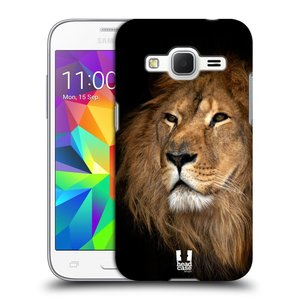 Plastové pouzdro na mobil Samsung Galaxy Core Prime VE HEAD CASE DIVOČINA – LEV