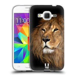 Silikonové pouzdro na mobil Samsung Galaxy Core Prime VE HEAD CASE DIVOČINA – LEV