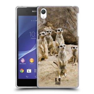 Silikonové pouzdro na mobil Sony Xperia Z2 D6503 HEAD CASE DIVOČINA – SURIKATY