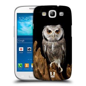 Plastové pouzdro na mobil Samsung Galaxy S III HEAD CASE DIVOČINA – SOVA