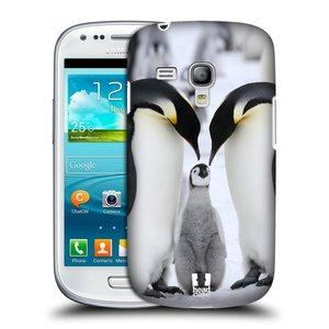 Plastové pouzdro na mobil Samsung Galaxy S3 Mini VE HEAD CASE DIVOČINA – TUČŇÁCI
