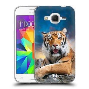 Silikonové pouzdro na mobil Samsung Galaxy Core Prime LTE HEAD CASE DIVOČINA – TYGR