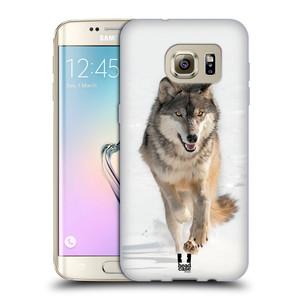 Silikonové pouzdro na mobil Samsung Galaxy S7 Edge HEAD CASE DIVOČINA – VLK
