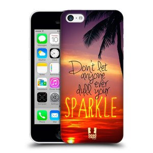 Plastové pouzdro na mobil Apple iPhone 5C HEAD CASE SPARKLE
