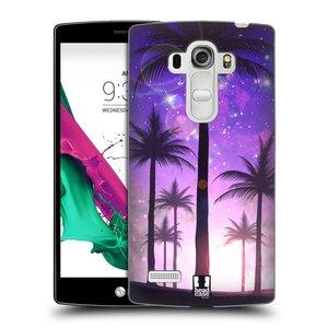 Plastové pouzdro na mobil LG G4s HEAD CASE PALMY FIALOVÉ