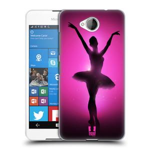 Plastové pouzdro na mobil Microsoft Lumia 650 HEAD CASE BALERÍNA SILUETA