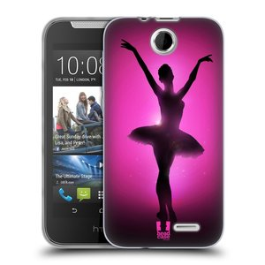 Silikonové pouzdro na mobil HTC Desire 310 HEAD CASE BALERÍNA SILUETA