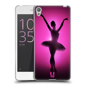 Silikonové pouzdro na mobil Sony Xperia E5 HEAD CASE BALERÍNA SILUETA